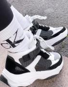 Calvin Klein Jeans - Missie - Hvide/sorte sneakers