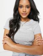 Calvin Klein Jeans— Tætsiddende T-shirt med logo-Grå