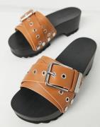Calvin Klein Jeans - Valynda - Chunky mule-sandaler i læder-Multifarve...