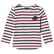 Tommy Hilfiger White, Red and Navy Long Sleeve Tee 7 years