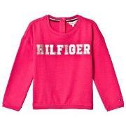Tommy Hilfiger Pink Essential Foil Print Sweatshirt 5 years