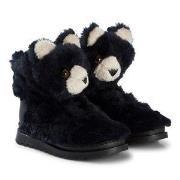 Dolce & Gabbana Navy Faux Fur Bear Boots 25 (UK 8)