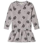 Kenzo Grey Marl Print Dress 2 years