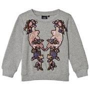Petit by Sofie Schnoor Grey Melange Sweatshirt 104 cm