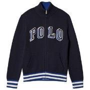 Ralph Lauren Navy Polo Logo Zip Sweater 2 years