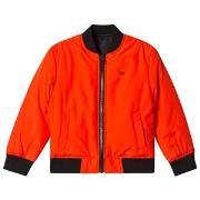 Calvin Klein Jeans Orange Reversible into Black Bomber Jacket 4 years
