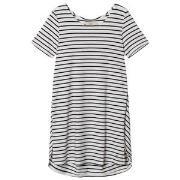 Emma och Malena Maternity Jane Stripe Dress Off White/Navy XS