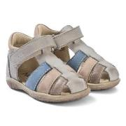 Noël Mini Tin Sandals Silver and Blue 20 (UK 4)