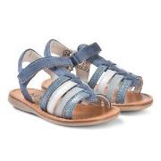 Noël Sydni Leather Sandals Blue Multi 34 (UK 2)