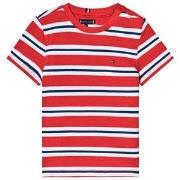 Tommy Hilfiger Stripe Tee Red 4 years