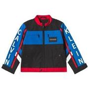 Calvin Klein Jeans Black Color Block BMX Jacket 6 years
