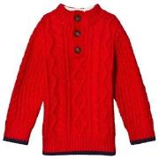 GAP Modern Red Henley Sweater 12-18 mdr